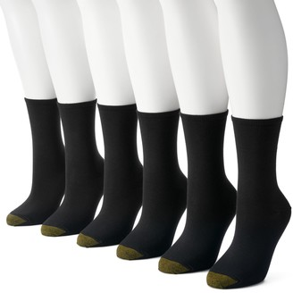 Gold Toe Women's GOLDTOE 6-pk. Solid Soft Crew Socks