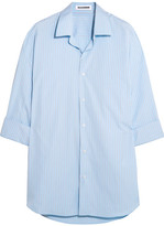 Jil Sander Oversized Striped Cotton Shirt - Sky blue