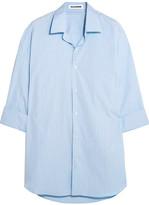 Jil Sander Oversized Striped Cotton Shirt - Sky blue