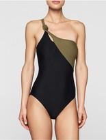 Calvin Klein Colorblock One-Piece Swimsuit