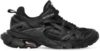 Balenciaga 30MM OPEN TRACK FAUX LEATHER SNEAKERS
