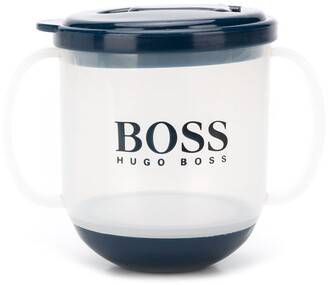 Boss Kids Logo Print Sippy Cup