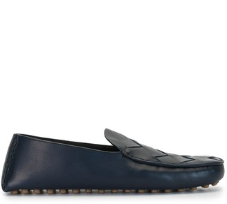 Bottega Veneta Maxi Intreccio Weave Driving Shoes
