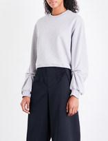 3.1 Phillip Lim Pierced cotton-jersey sweatshirt