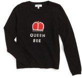 Milly Minis Girl's Queen Bee Embellished Pullover
