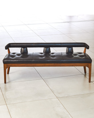 Global Views Moderno Leather Bench