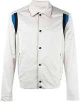 Lanvin striped shoulder jacket - men - Cotton/Polyurethane/Cupro/Viscose - 46