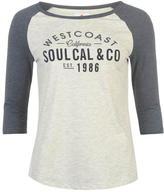 Soul Cal SoulCal Deluxe Raglan Baseball Top
