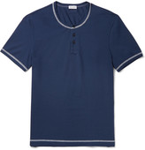 Dolce & Gabbana Stretch-Cotton Jersey Henley T-Shirt