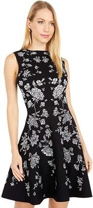 Ted Baker Naomyy Rhubarb Jacquard Knitted Dress (Black) Women's Clothing