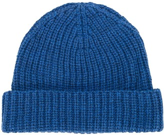 Universal Works knitted ribbed beanie hat