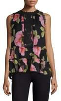 Kate Spade Vintage Bloom Lauryn Silk Top