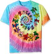 Liquid Blue Men's Grateful Dead Spiral Bears T-Shirt, Multi