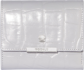 Modalu Margot Leather Small Dropdown Purse, Shark Croc