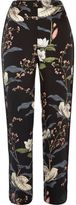 River Island Womens Black floral print pants