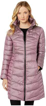 Bernardo Fashions EcoPlume Fitted Walker Jacket