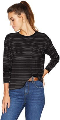 Daily Ritual Amazon Brand Women's Jersey Long-Sleeve Boxy Pocket Tee