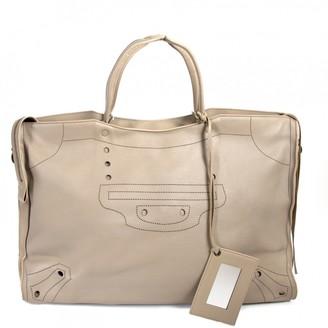 Balenciaga City Grey Leather Travel bags