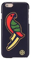 Tory Burch Parrot Applique Leather Case For Iphone 6