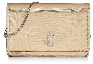 Jimmy Choo Palace Metallic Snakeskin-Embossed Leather Clutch
