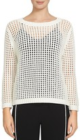 1 STATE 1.STATE Sheer Pointelle Sweater