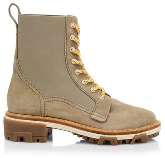 Rag & Bone Shiloh Lace-Up Suede Combat Boots