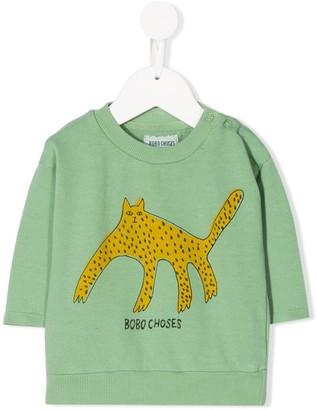 Bobo Choses graphic-print crew neck sweatshirt