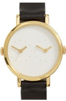 Steven Alan Women's 'Time Traveler' Round Leather Strap Watch, 30Mm
