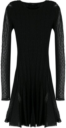 Philipp Plein long sleeved knit dress