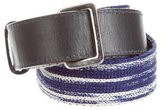 Missoni Canvas Leather-Trimmed Belt
