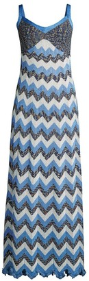 M Missoni Metallic Chevron Maxi Dress