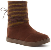 Toms Suede Metallic Stripe Boot (Little Kid & Big Kid)