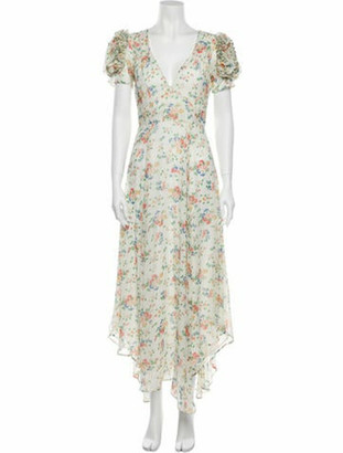 LoveShackFancy Silk Long Dress White