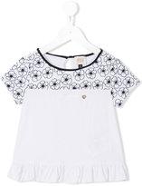 Armani Junior poppy print top - kids - Cotton/Spandex/Elastane/Modal - 5 yrs