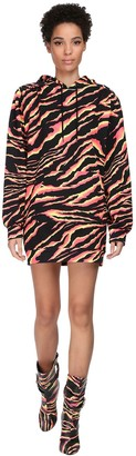 Jeremy Scott Hooded Cotton Jersey Mini Dress