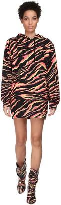 Jeremy Scott Hooded Cotton Jersey Mini Dress