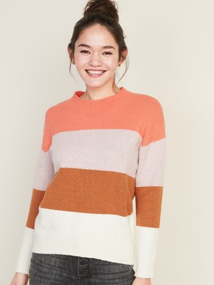Old Navy Cozy Color-Block Boucle Sweater for Women