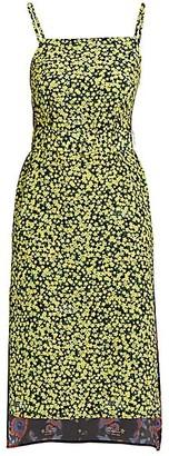 Rokh Strappy Contrasting Slip Dress