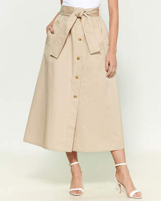 Moschino Button Belt Maxi Skirt