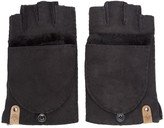 Mackage Black Shearling Orea Gloves