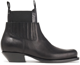 MM6 MAISON MARGIELA Layered Leather Ankle Boots