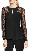 Vince Camuto Georgette Lace Sleeve Blouse