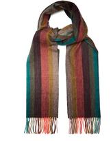 Paul Smith Fading Artist Stripe cashmere scarf