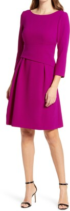Harper Rose Waist Detail Fit & Flare Dress