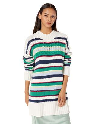 BCBGMAXAZRIA Women's Striped Boyfriend Sweater