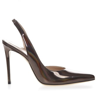 Aldo Castagna Metalgun Patent Leather Slingback