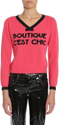 Boutique Moschino V Collar Sweater
