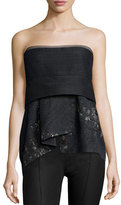 Donna Karan Short Bustier Top, Charcoal