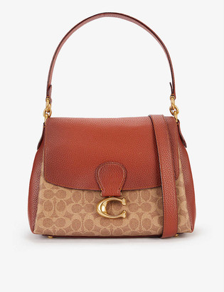 Coach May canvas and pebbled leather shoulder bag
