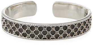 Jude Frances Lattice White Topaz Cuff Bracelet